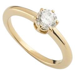 Chaumet Round Brilliant Cut Diamond Engagement Ring