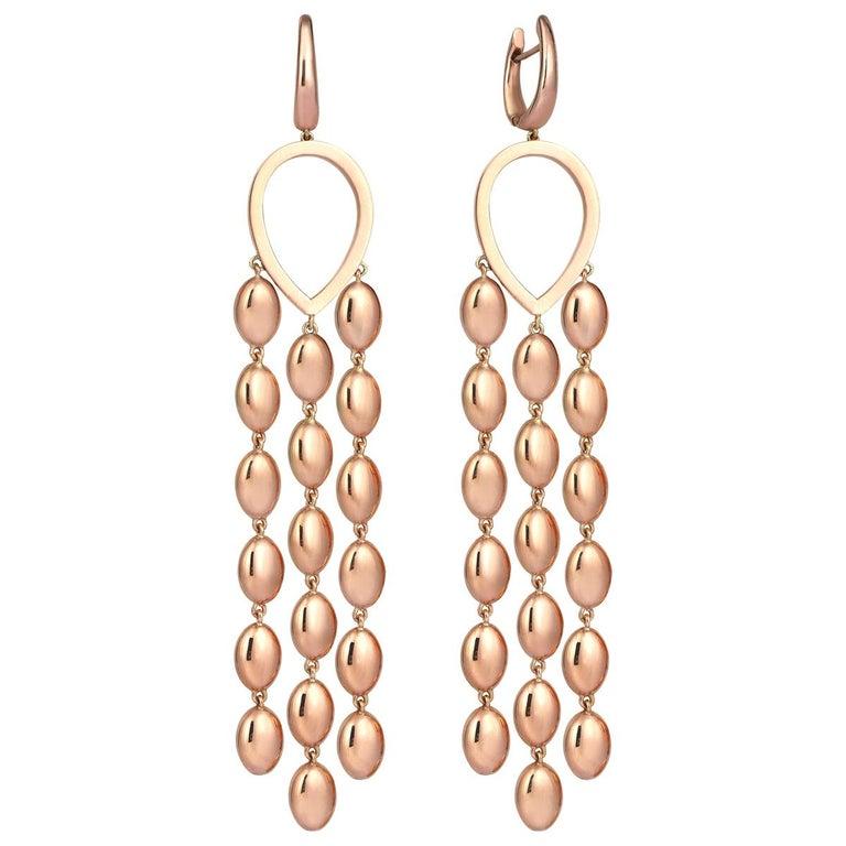Rose Gold Dangle Earrings