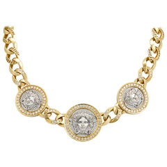 Medusa Gold and Diamond Necklace by Versace