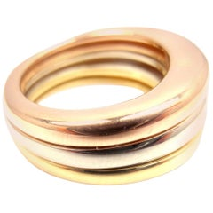 Cartier Stacking Tri-Color Gold Band Ring
