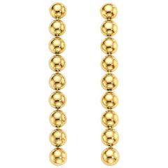Cadar Psyche Drop Earrings, 18 Karat Yellow Gold, Medium