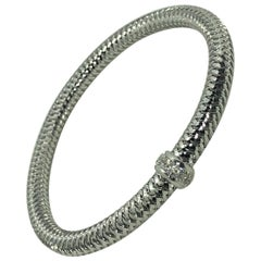 "Roberto Coin 18 Karat White Gold and Diamond ""Primevera"" Bracelet"