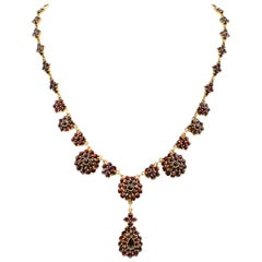 Vermeil Garnet Pendant Necklace