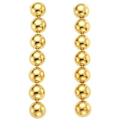 Cadar Psyche Drop Earrings, 18 Karat Yellow Gold, Large