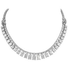 Platinum Diamond Bracelet, Necklace Combination