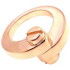Cartier Menotte Rose Gold Band Ring