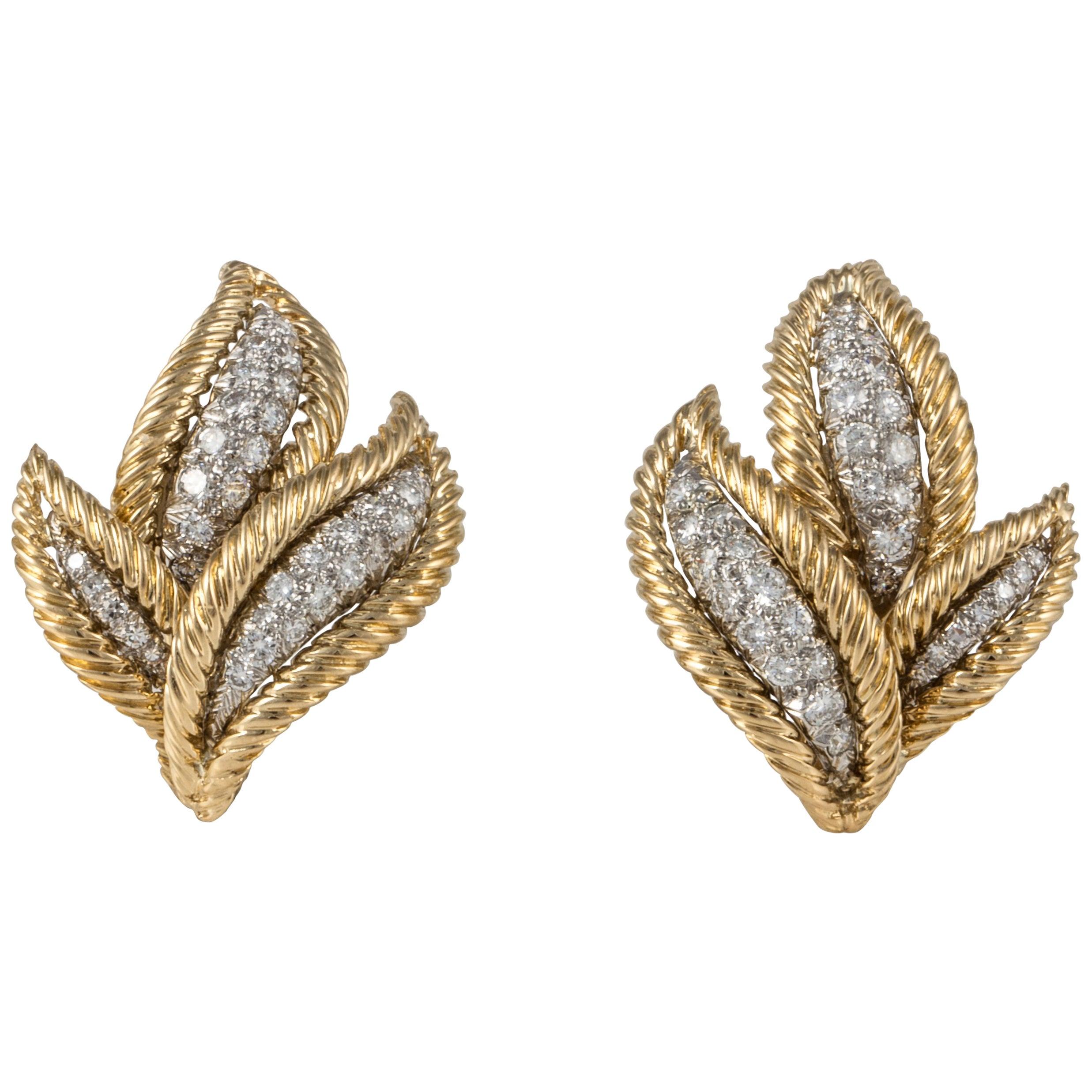 David Webb Diamond Earrings