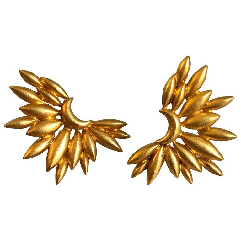 Lauren Harper Gold Sunburst Studs For Sale