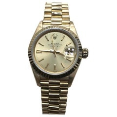 Rolex Ladies President Date 69178 18 Karat Yellow Gold Champagne Dial