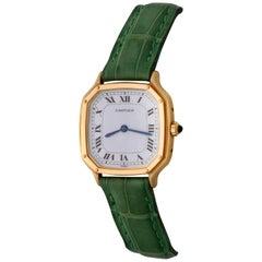 Cartier Yellow Gold Ladies Manual Wind Wristwatch