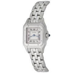 Cartier Ladies 18 Karat White Gold Panther Quartz Wristwatch