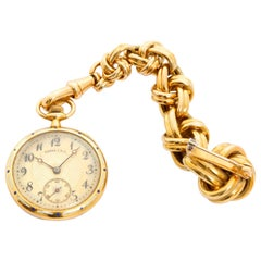 Tiffany & Co. Enameled 14 Karat Yellow Gold Pocket Watch Brooch