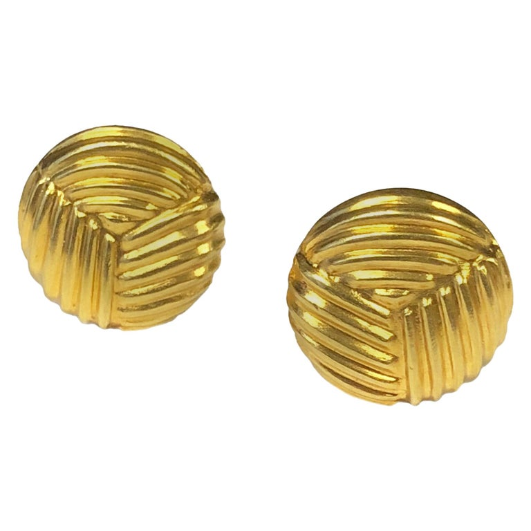 Lalaounis Yellow Gold Cufflinks For Sale