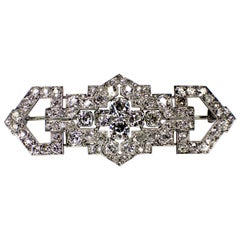 Art Deco Diamond Brooch, 1920s