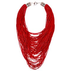 Coral 100 Strand Necklace