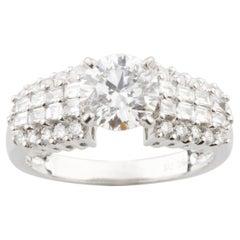 2.79 Carat Round Brilliant Diamond 18 Karat White Gold Engagement Ring