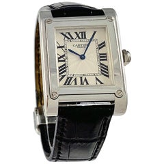 Cartier Paris Tank A Vis Platinum Prive Manual Wind Watch
