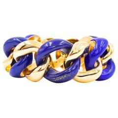 Seaman Schepps Lapis Lazuli and Gold Bracelet