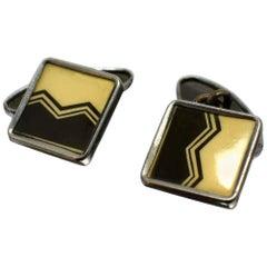 Art Deco Men's Geometric Cufflinks