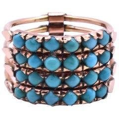 Antique Gold and Turquoise Harem Ring