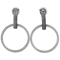 Boucheron Designer Clip on Diamond Hoop Earrings in 18 ct Gold with Certificate