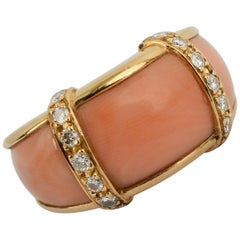 Van Cleef & Arpels Coral Diamond Gold Ring
