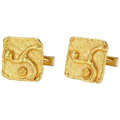 Jean Mahie Gold Cufflinks