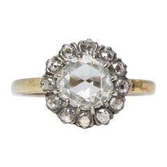 Antique Victorian 18 Karat Gold 1.5 Carat Diamond Ring