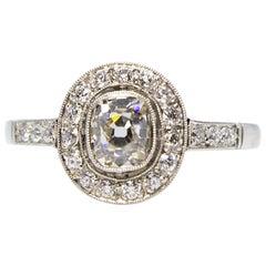 Estate Platinum 1.1 Carat Diamond Ring