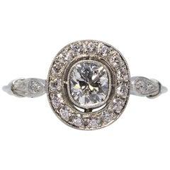 Estate Platinum 0.75 Carat Diamond Ring