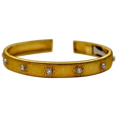 Buccellati Classica Signature Rigato Bracelet Diamonds