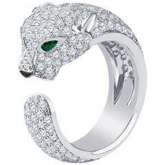 Cartier Panthere Ring with 2.39 Carat Diamonds, 18 Karat White Gold