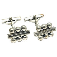 Georg Jensen Sterling Silver Cufflinks No. 61B with a Toggle Back