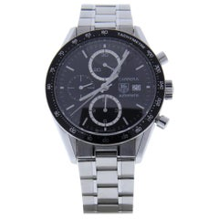 Tag Heuer Carrera Cv2010-4 With 8.0 in. Band, Ceramic Bezel & Black Dial