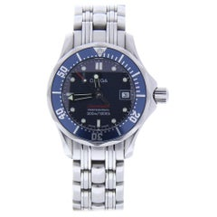 Omega Seamaster 2224.8 With 6.5 in. Band, Ceramic Bezel & Blue Dial