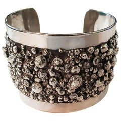 Sterling Silver Bangles Bracelet Brandimarte Florence, Italy, 1980s