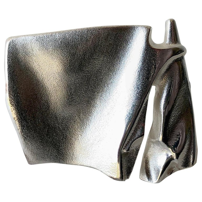Bjorn Weckstrom for Lapponia Sterling Silver Finnish Modernist Space Age Brooch For Sale