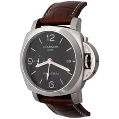 Panerai Stainless Steel Luminor 1950 GMT Limited Edition Automatic Wristwatch