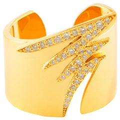 18 Karat Gold and 1.80 Carat White Diamond Signature Pave Ring by Alessa Jewelry