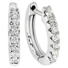 .96 Carat Diamond Hoops / Earrings