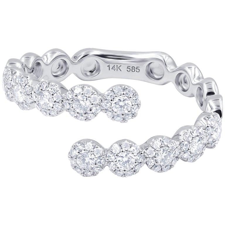 .46 Carat Diamond Fashion Ring 14 Karat White Gold