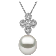 Yoko London South Sea Pearl and Diamond Necklace Set in 18 Karat White Gold