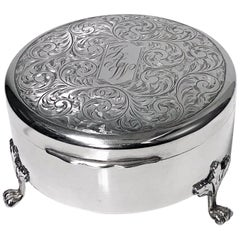 Birks Sterling Silver Jewelry Box, 1949