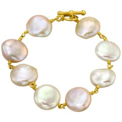 Pearl Bracelet 22 Karat Gold Yellow Gold
