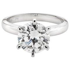GIA Certified 2.82 Carat Diamond Solitaire