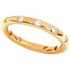Tiffany & Co. Bezet Diamonds 18 Karat Pink Gold Ring