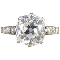 1.75 Carat Cushion Cut Diamond Art Deco Platinum Engagement Ring