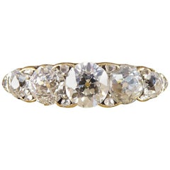 Antique Late Victorian Five-Stone Diamond Ring in 18 Carat Yellow Gold