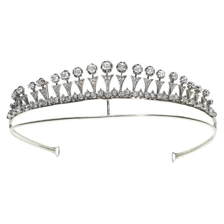 Antique Diamond Tiara or Necklace