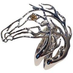 Paolo Piovan Brown Diamond White Gold Horse Ring